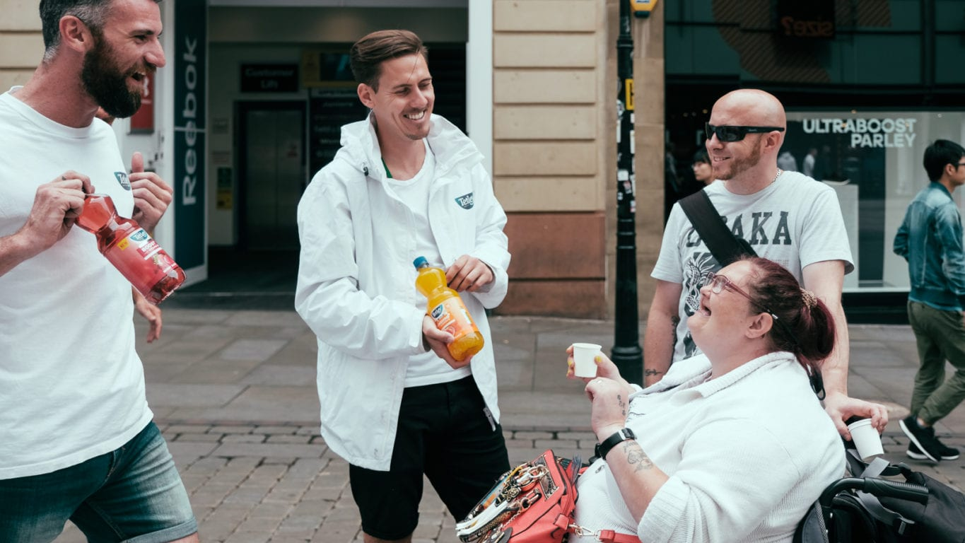 Tetley's experiential campaign in Manchester