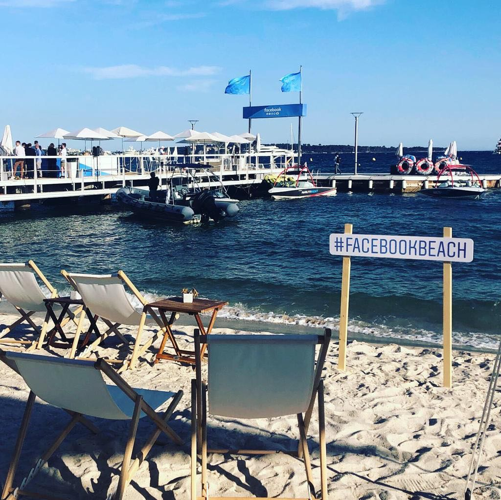 Facebook beach cannes lions 2019